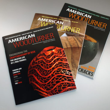american woodturner publication design