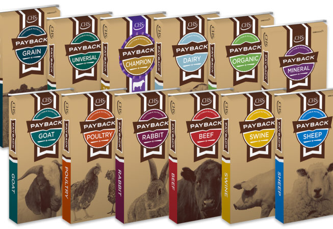 line of animal feed packaging redesign