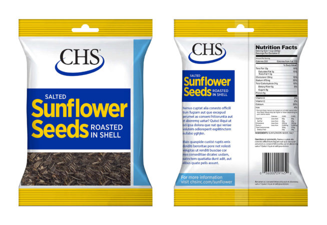 sunflower seed packaging design mockup front and back