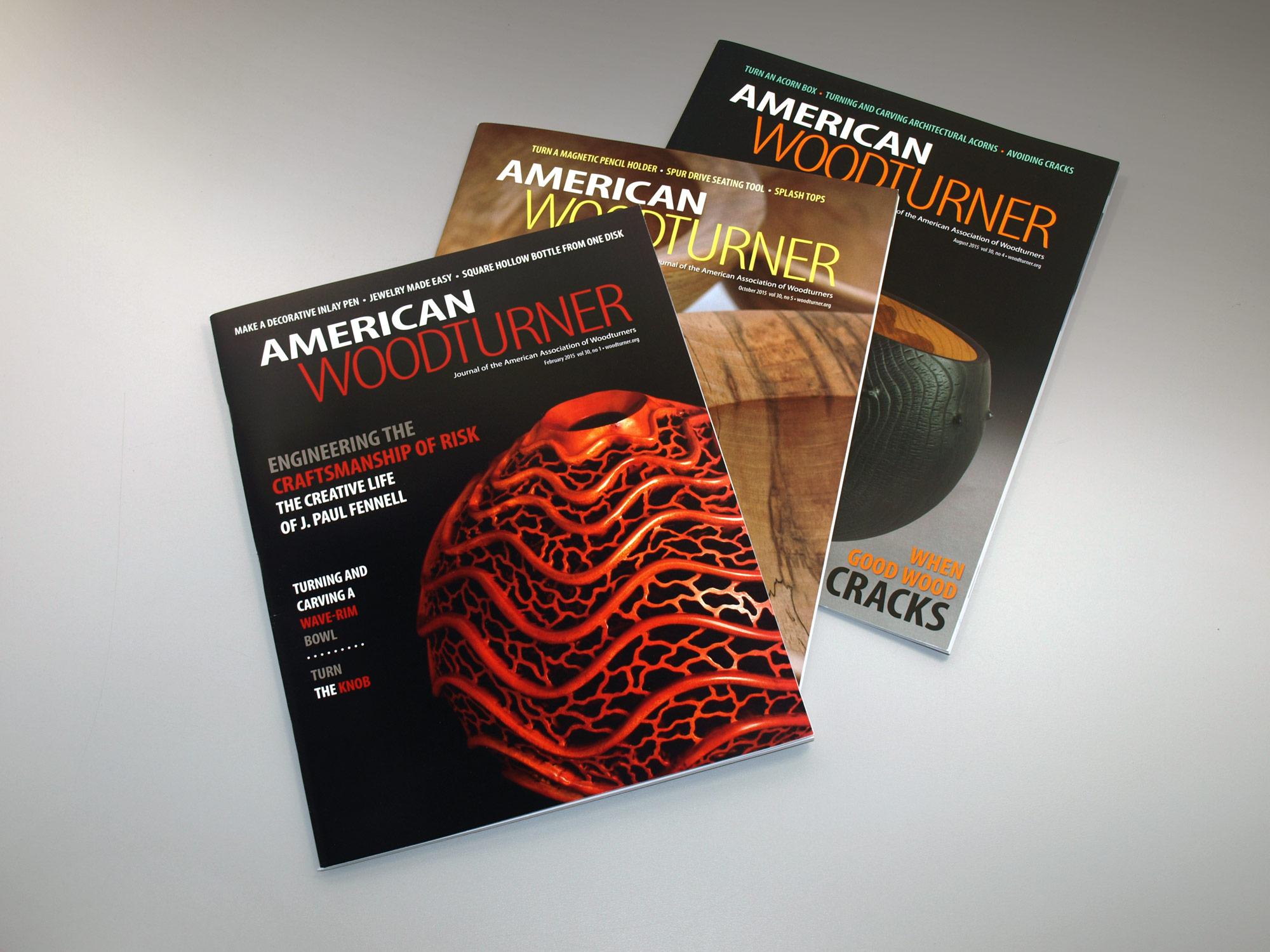 american woodturner publication design