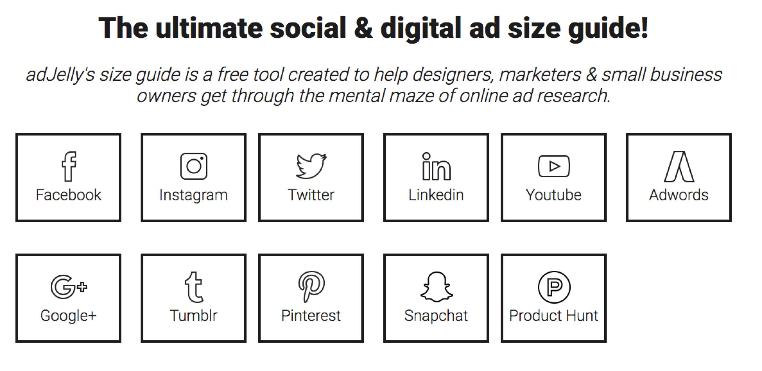 social media size